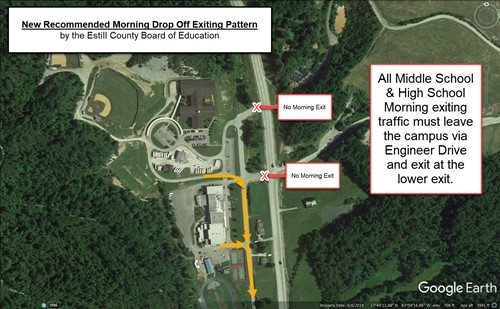 ECHS & ECMS Morning Exiting Driving Pattern