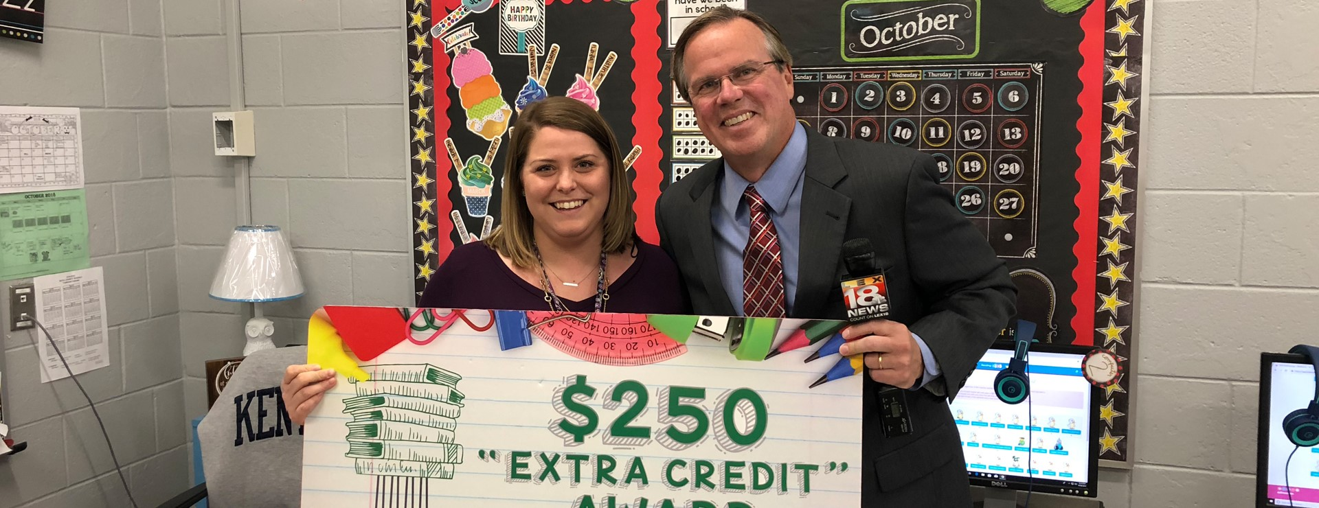 Mrs Worrell, Forcht Bank Extra Credit Award winner!