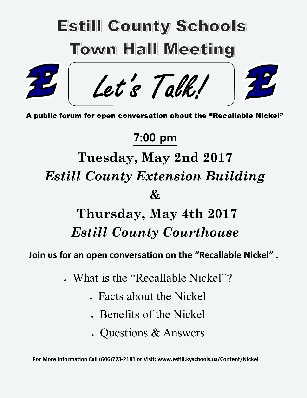 Flyer for townhall